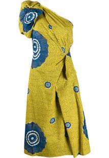 Ulla Johnson Vestido Idra Ombro Único Com Detalhe Drapeado - Amarelo