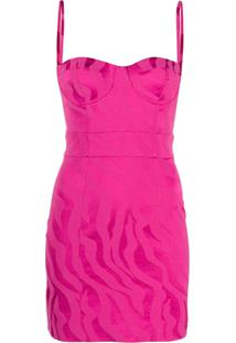 Just Cavalli Vestido Slim - Rosa