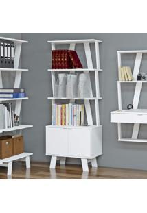 Estante Para Livros 2 Portas 3 Prateleiras Z Tecno Mobili Branco