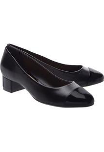 Sapato Tradicional Com Recorte- Pretoarezzo & Co.