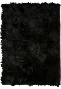 Tapete Felpudo Shaggy Rayon Black 40Mm