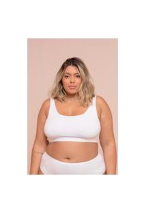 Top Cotton Plus Size Branco-58