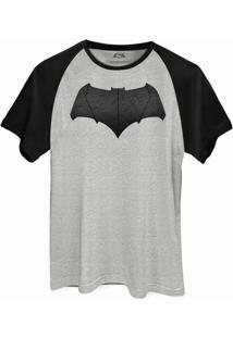 Camiseta Raglan Dc Comics Batman Vs Superman Logo Batman Bandup! - Masculino