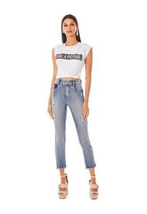 Calca Skinny Andreia Cos Intermediario Com Reserva Jeans