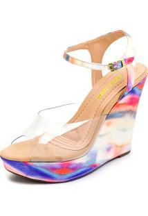 Sandalia Gisela Costa Anabela Casual Multicolorido - Kanui