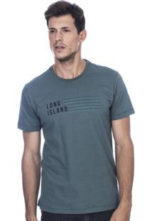 Camiseta Long Island Rv Masculina - Masculino-Verde