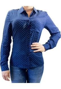 Camisa Facinelli 660073 Ml - Feminino-Azul