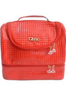 Bolsa Térmica Cisne 2 Compartimentos Com Alça - Unissex-Vermelho