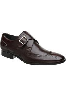 Sapato Monk Oxford Masculino Malbork Em Couro 60053 - Masculino-Marrom