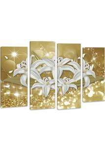 Quadro Oppen House 70X100Cm Canvas Flores De Midas Decorativo Interiores