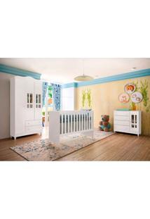 Dormitório Decorado Infantil Ariel Unissex Branco