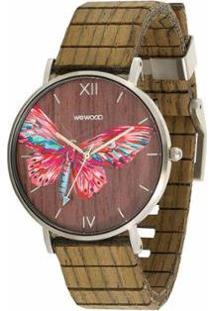 Relógio Wewood Aurora Tropical Nut - Unissex-Marrom