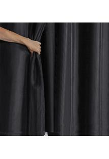 Cortina Blackout Pvc Com Tecido Voil 2,80 M X 1,60 M Preto - Multicolorido - Dafiti