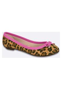 Sapatilha Feminina Estampa Animal Print Moleca