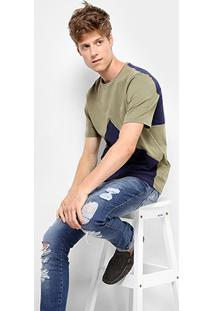 Camiseta Drezzup Recorte Frente Masculina - Masculino