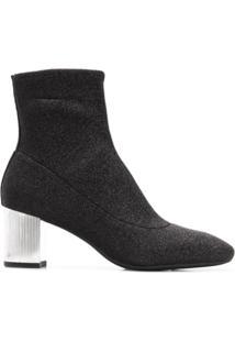 Michael Michael Kors Ankle Boot De Tricô - Preto