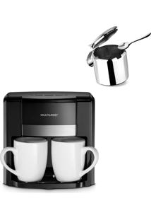 Combo Café - Cafeteira Elétrica 220V 2 Xícaras + Colher Dosadora E Açucareiro Inox 300Ml - Be010K Be010K