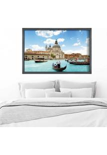 Quadro Love Decor Com Moldura Bella Veneza Grafitti Metalizado Grande