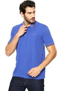 Camisa Polo Sommer Logo Azul