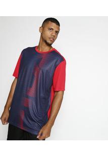 Camisa Basket Com Flow®- Vermelha & Azul Marinhofila