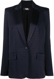Karl Lagerfeld Blazer De Jacquard - Azul