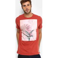 4e85193fa Camiseta Colcci Flor Tropical Masculina - Masculino-Vermelho