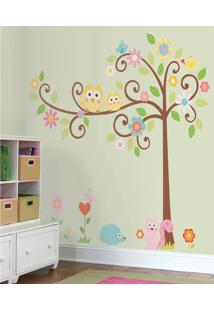 Adesivo Decorativo Roommates - Scroll Tree Marrom Roommates