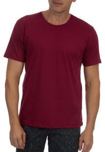 Camiseta Masculina Vinho Lisa - P