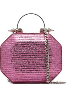 Okhtein Metallic Clutch Bag - Rosa