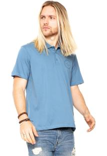 Camisa Polo Quiksilver Slim Azul