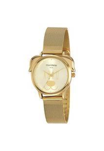 Kit Relógio Feminino Mondaine Analógico 53783Lpmvde3K1 + Pulseira Dourado
