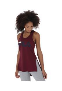 039961fd59 ... Camiseta Regata Fila Letter Long - Feminina - Vinho
