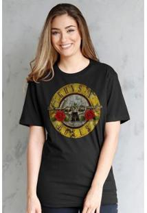 Camiseta Bandup! Guns N Roses Bullet Feminina - Feminino-Preto