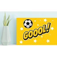 Placa Decorativa Mdf Infantil Futebol Gol Amarelo 30X40 667c4f177cffd