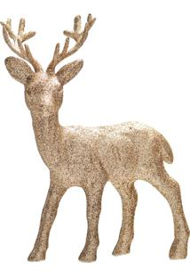 Enfeite Natal Decorativo Para Pendurar Cervo Mafim 15Cm 1 Pç