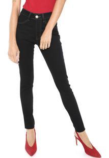 39a61992f ... Calça Jeans Denuncia Skinny Pespontos Azul-Marinho