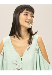 Blusa Naked Shoulder Estampa Vuelo - Lez A Lez