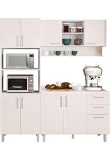 Cozinha Compacta Com 4 Peças Floripa 26-Politorno - Branco