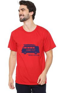 Camiseta Masculina Sandro Clothing Kombi Vermelha