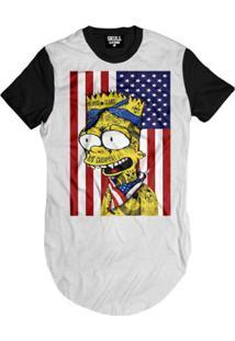 Camiseta Longline Bart Flag Masculina - Masculino