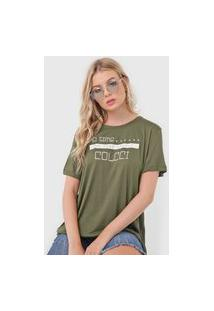 Camiseta Colcci No Time Verde