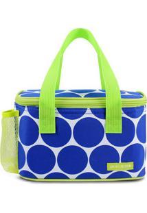 Bolsa Tã©Rmica Com Bolso Lateral- Azul & Verde Claro-Jacki Design