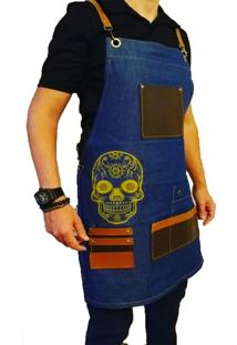 Avental Lucinoze Skull Jeans