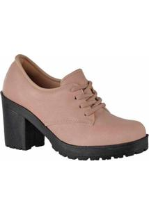 Oxford D&R Shoes Tratorada Feminina - Feminino-Nude