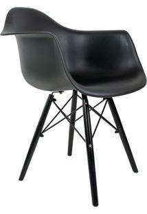 Cadeira Charles Eames Com Braço Ii Preta