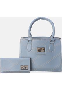 Kit Bolsa Carteira Zart Azul