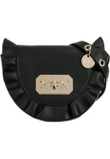 Red Valentino Red(V) Mini Rock Ruffles Crossbody Bag - Preto