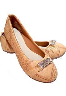 Sapatilha Feminina Estilo Shoes Ga740 Bege
