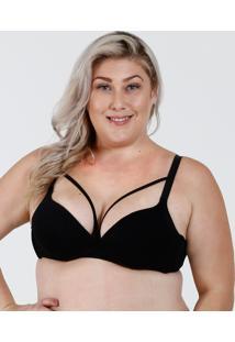 Sutiã Feminino Com Base Tiras Strappy Plus Size Marisa