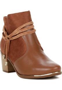 Bota Feminina Comfortflex Ankle Boot Marrom